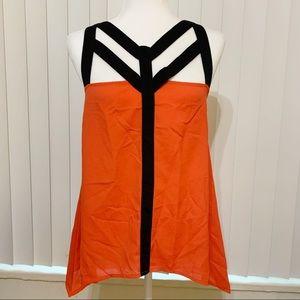 BisouBisou   Bright Orange Casual sleeve…